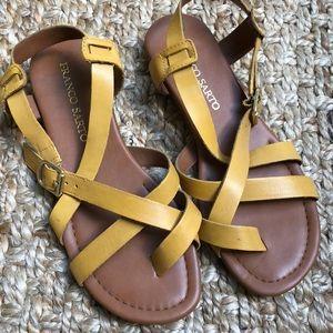 Mustard Yellow Franco Sarto Sandals